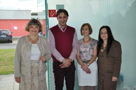 <h5>Team Glasmuseum</h5><p>vlnr: Dr. Ruth Fabritius, Mevlüd Kussan, Kerstin Vogelsgesang, Bozena Yazdan</p>