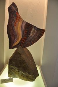 Glasobjekt im Rheinbacher Glasmuseum