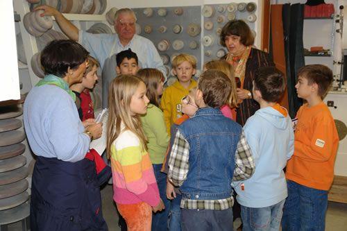 Führung einer Kindergruppe