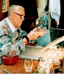 Franz Wendler bei der Arbeit